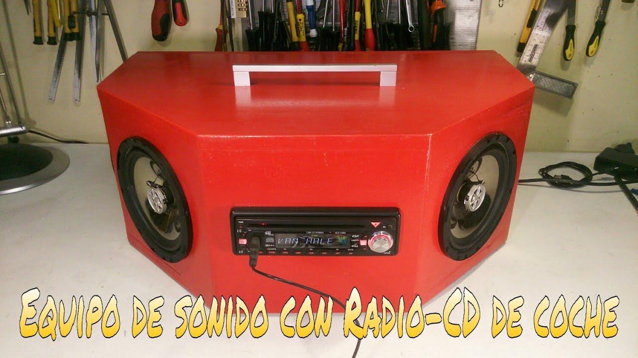 C mo hacer un equipo de sonido con un radio cd de coche - Muebles para equipo de sonido ...