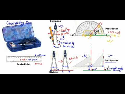 Math 9 Basic Drawing Techniques Using Geometry Box Instruments
