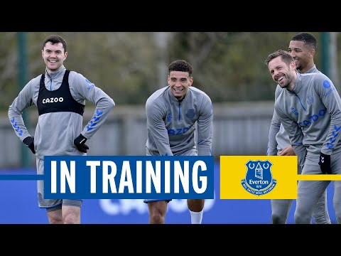 SHOOTING DRILLS AT USM FINCH FARM AHEAD OF BRIGHTON | EVERTON IN TRAINING