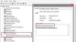 SOLVED Prolific USB to Serial - This Device Cannot Start (Code 10) Issue / Problem Solution