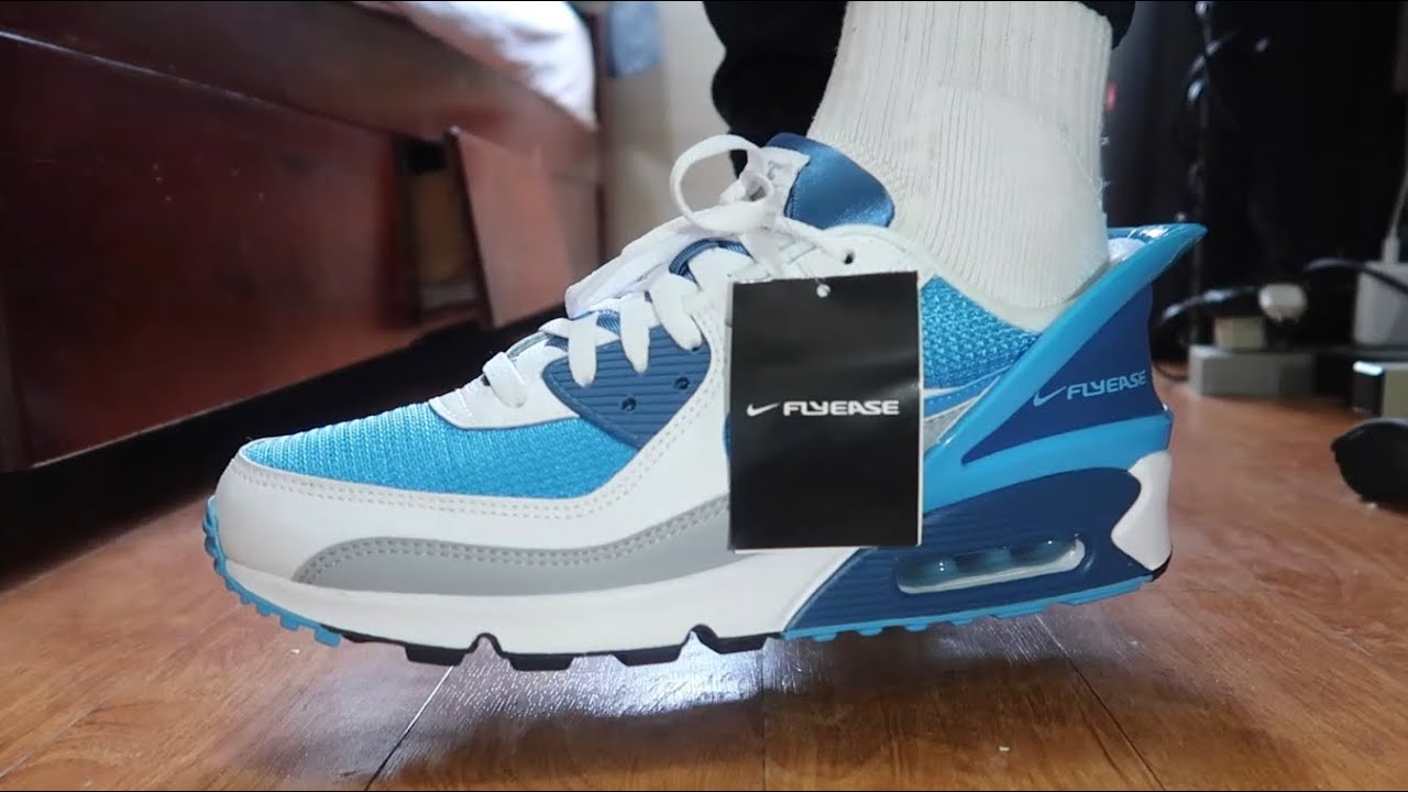 NIKE AIR MAX 90 FLYEASE   ON FEET   UNBOXING   COP OR DROP?