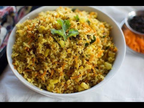 Carrot Pepper Rice | Easy Lunch Box Recipe | Karnataka Recipes
