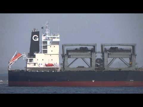 [船]MERLIN ARROW Bulk cargo バラ積み船 Tokyo Bay 東京湾
