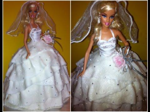 Barbie Doll Fondant Wedding Dress Cake Slide Show