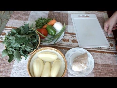 Зелёный Борщ с крапивой и яйцом