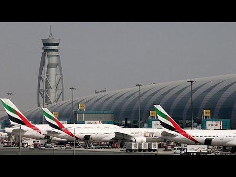 Accidente de un avión al aterrizar en el aeropuerto internacional de Dubai