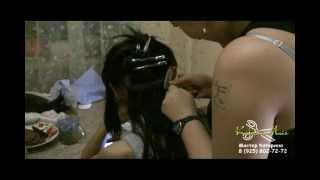 Наращивание волос + снятие волос + коррекция волос