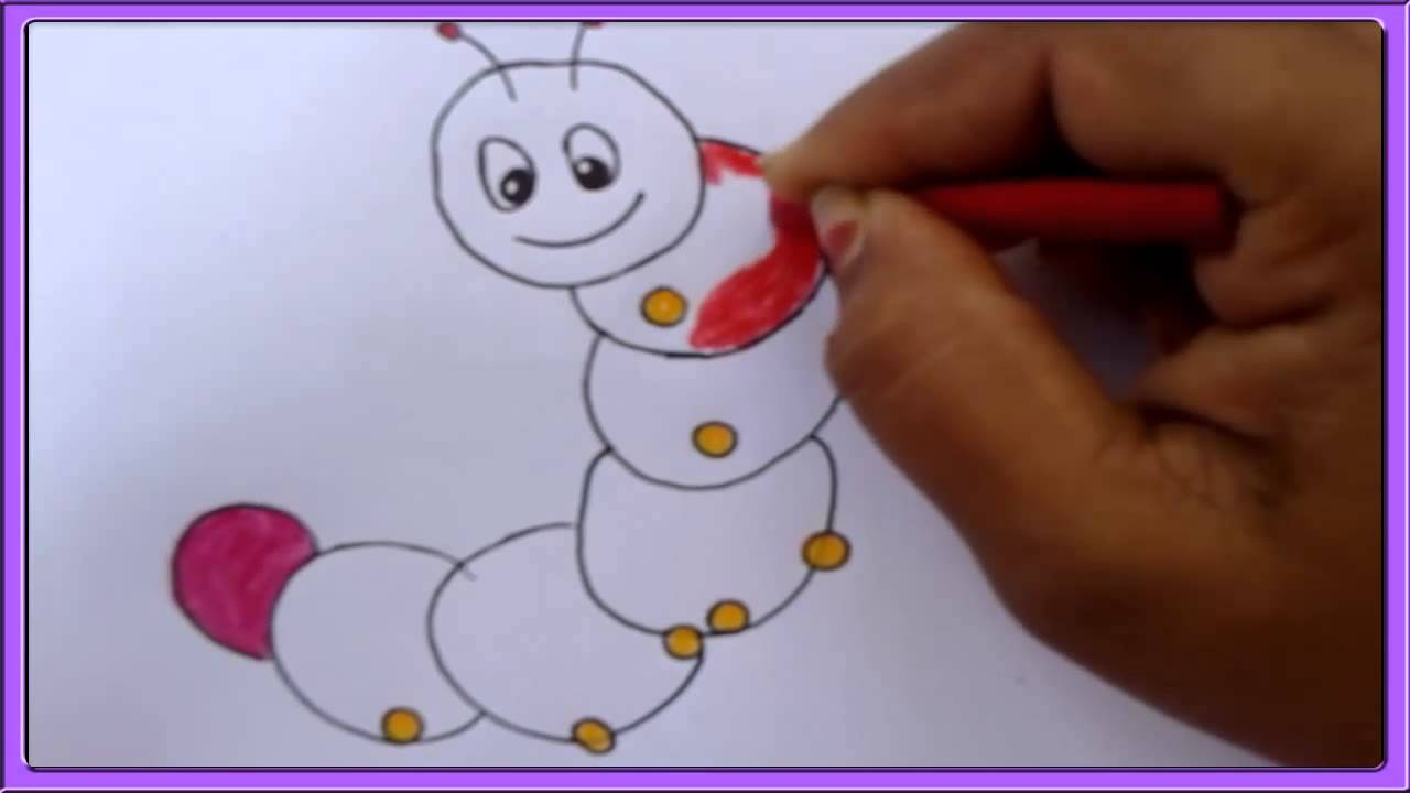 Uncategorized Drawing Of Caterpillar how to draw a caterpillar for children youtube