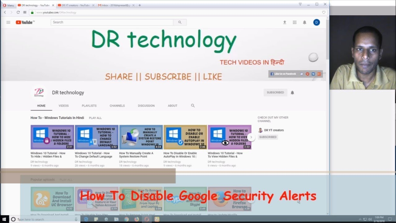 google security alert email