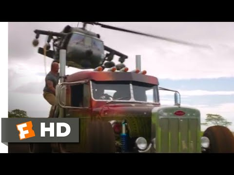 Hobbs & Shaw (2019) - Helicopter vs. Trucks Scene (8/10) | Movieclips