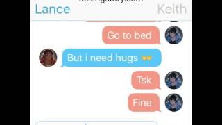 Klance Texting needing cuddles