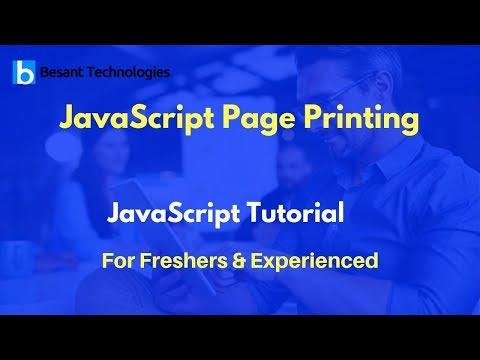 JavaScript Page Printing | JavaScript Tutorial For Beginners thumbnail