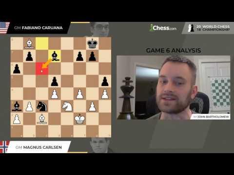 Game 6 | Carlsen Vs. Caruana | 2018 World Chess Championship