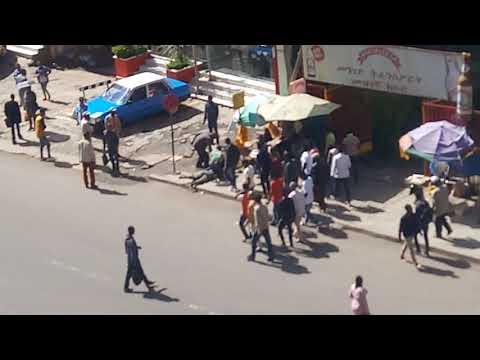 Crazy public fight in Ethiopia Addis Ababa