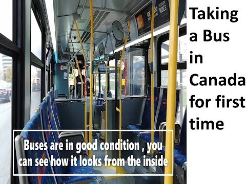 No Car | Commuting With Bus | Canada 2019 | First Ever Bus Trip