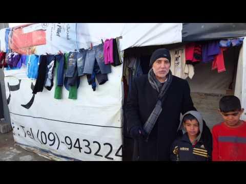 With Syrian children Chattora Bekaa Valley Lebanon