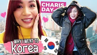 THE REAL REASON WHY I WENT TO KOREA | Charis Day 1 Vlog ❤