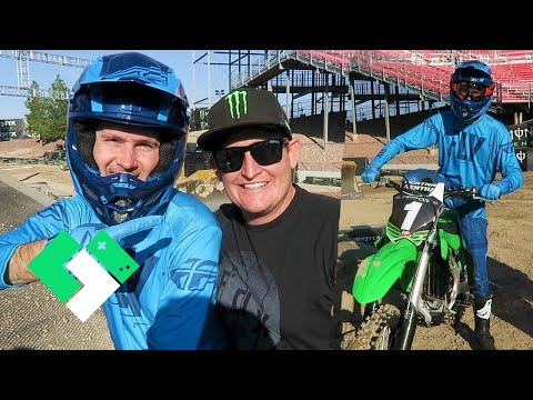 Dirt Bike Experience With Ricky Carmichael! Riding On A Supercross Track!
