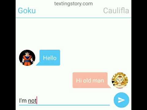 Caulifla sexting Goku (dbz parody)