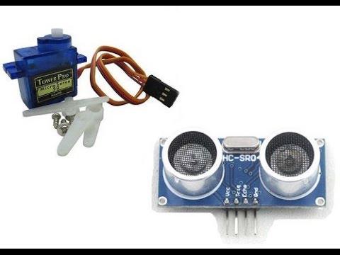 Подключение связки датчика HC SR04 и Servo SG90 к Arduino Nano