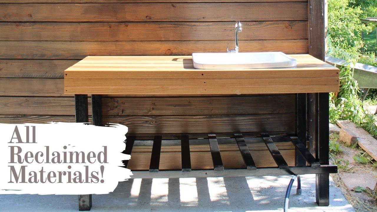diy outdoor kitchen sink