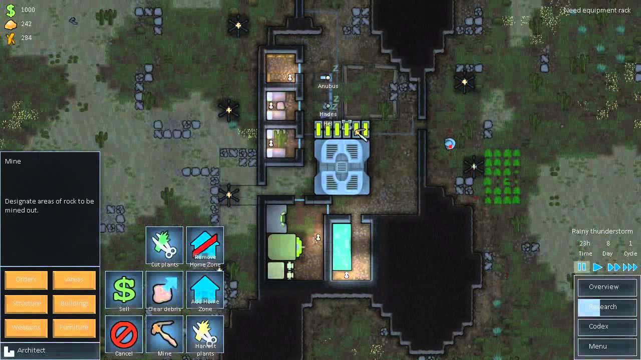 Let's Play RimWorld : C7Ep3 - Base Layout and Expansion by Christonian