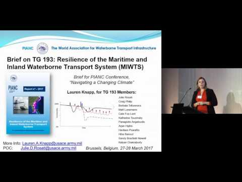 3.15 - PIANC Task Group 193 on resilience of maritime and inland waterborne transport