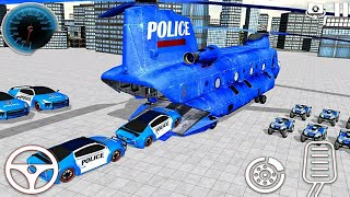 Police Car Truck Transporter: Car Transport Plane Game  - Android Gameplay FHD
