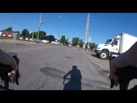 Close call with delivery truck, NE Minneapolis