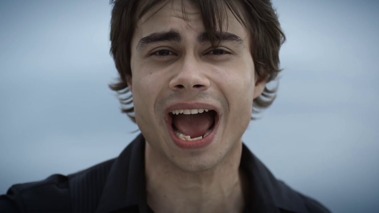 Alexander Rybak  - 2019 Dark brown hair & edgy hair style.