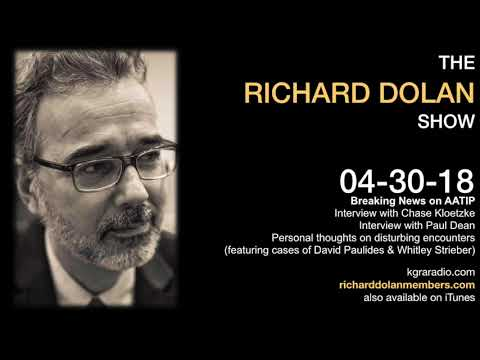 Richard Dolan Show April 30 2018. AATIP or AAWSAP?