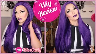 ✨Lace Front WIG REVIEW! ✨ Lucy Hair Wig | Dark Purple | AMAZON | 💜 $38!!! 💜