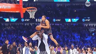 2020 NBA Slam Dunk Contest WILD Final Round Highlights!Aaron Gordon Over Tacko Fall vs Derrick Jones