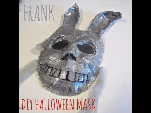 Paper mache Mask - DIY Halloween costume (CREEPY BUNNY MASK)