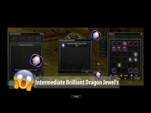 Disassemble Unique Dragon Jade get Intermediate Brilliant Dragon Jewel's Hearts