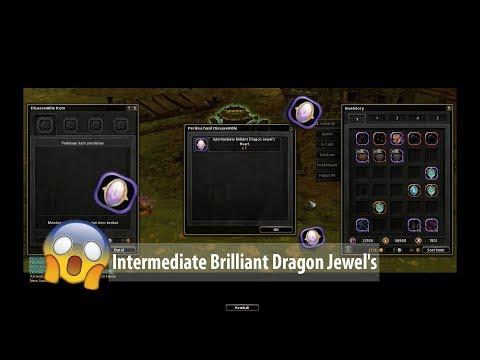 Disassemble Unique Dragon Jade get Intermediate Brilliant Dragon Jewel's Hearts