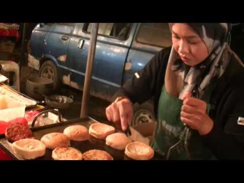 Pretty Girl sells Special Chicken Burger, Friday Night Market
