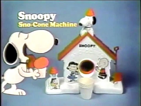 vintage snoopy snow cone machine commercial - Commercial Snow Cone Machine