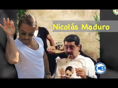 """El presidente Nicolás Maduro visita el restaurante del chef """"Salt Bae"""" del famoso meme"""