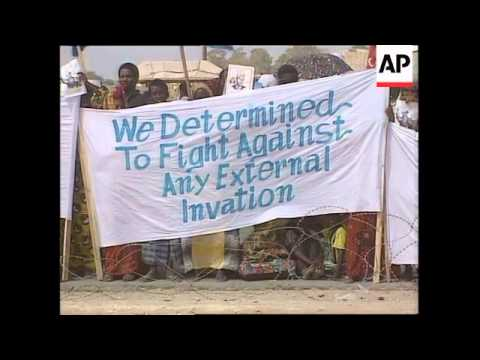 Somalia - Media Attacked, Aidid Supporters Protest