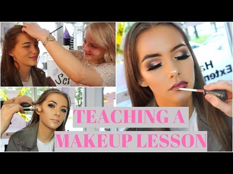 Teaching A Beginner How To Do Makeup ( 1 On 1 MUA Lessons ) ♡ | Lucygmakeupx