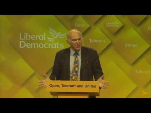 Vince Cable attacks Citizen's Income at Lib Dem conference
