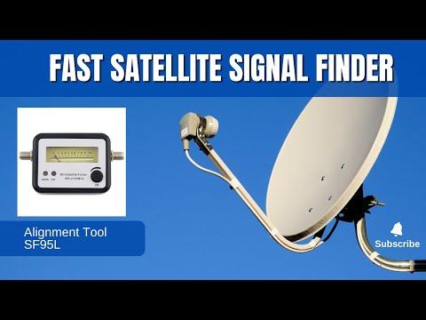Fast DirecTV or Dish Network satellite dish alignment meter finder