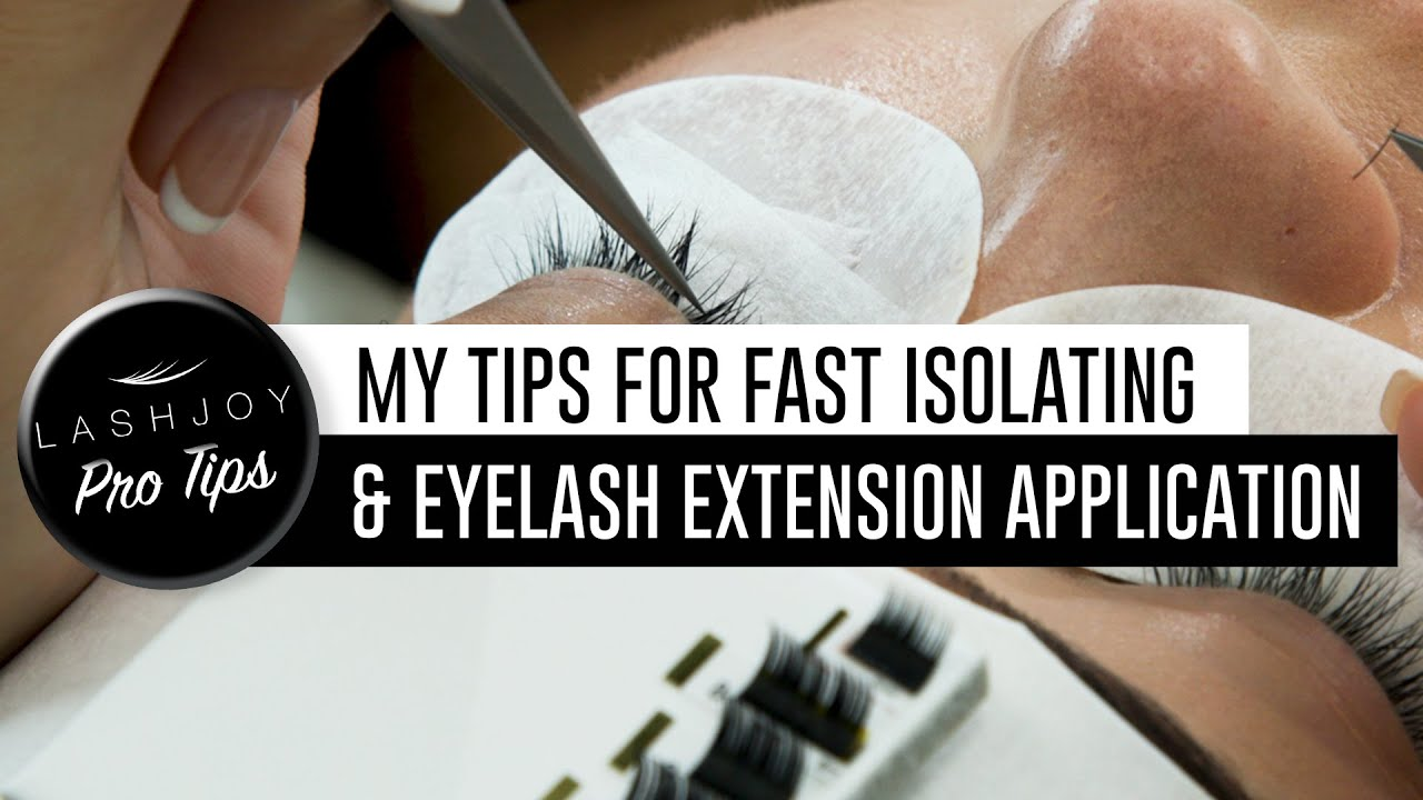 fbf51a4285d My Tips for Fast Isolating & Eyelash Extension Application - YouTube