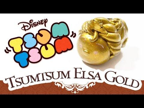 Tuto FIMO: Tsumtsum Elsa Gold COLLECTOR / Tsumtsum tutorial polymerclay