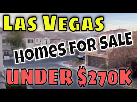 Las Vegas Homes for Sale- UNDER $270k