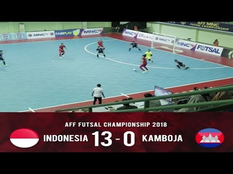 Highlights Indonesia vs kamboja [13-0] AFF Futsal Championship 2018