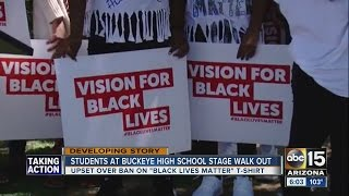 Students stage a walk-out of Buckeye school protesting Black Lives Matter t-shirt