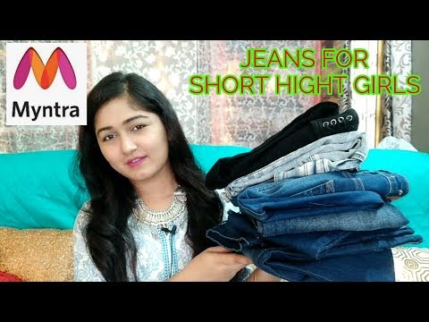 JEANS FOR SHORT HIGHT GIRLS/HIGH RISE JEANS HAUL/MYNTRA JEANS HAUL