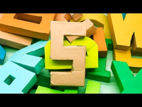 3D Letters from Paper | Origami Alphabet Letters | 5 Minutes Crafts & Toys